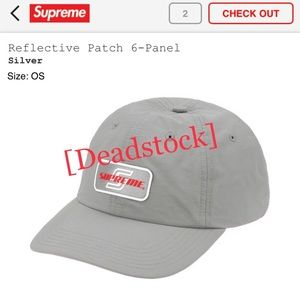 Supreme 6 Panel reflective patch hat